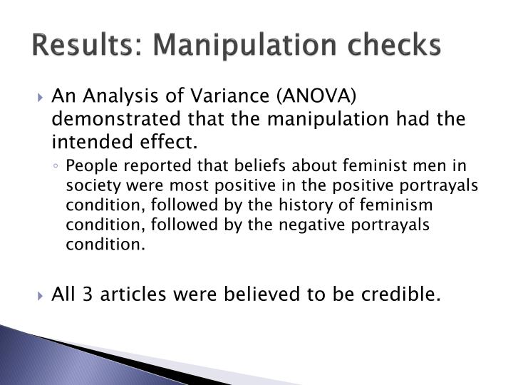 Results: Manipulation checks