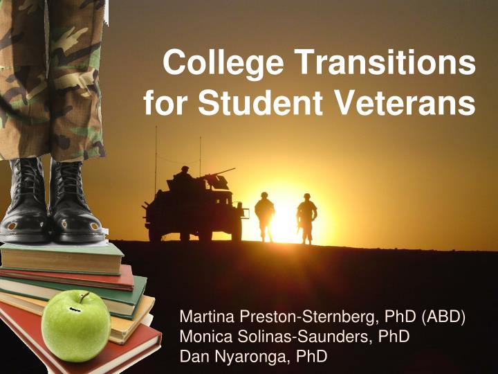 College transitions for student veterans