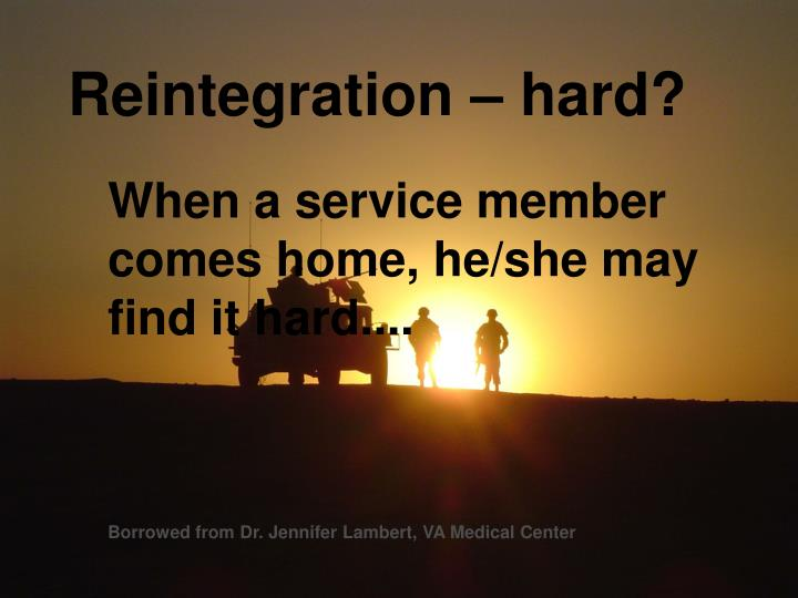 Reintegration – hard?