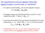 the hypothetical coronal magnetic field with lowest energy is current free or potential