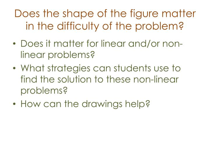 Does the shape of the figure matter in the difficulty of the problem?