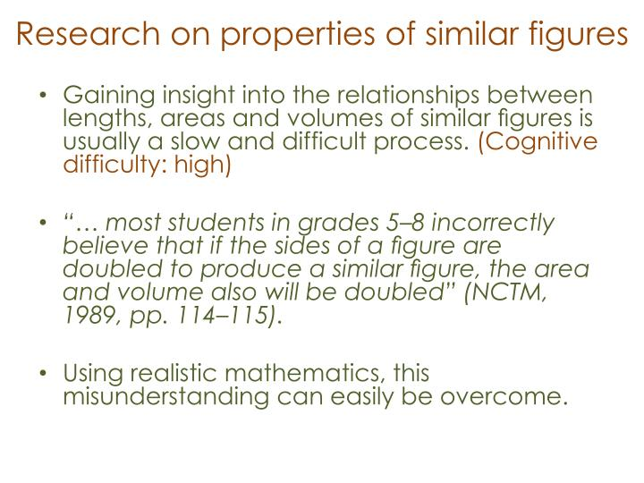 Research on properties of similar figures