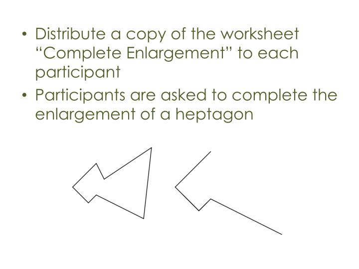 Distribute a copy of the worksheet ""