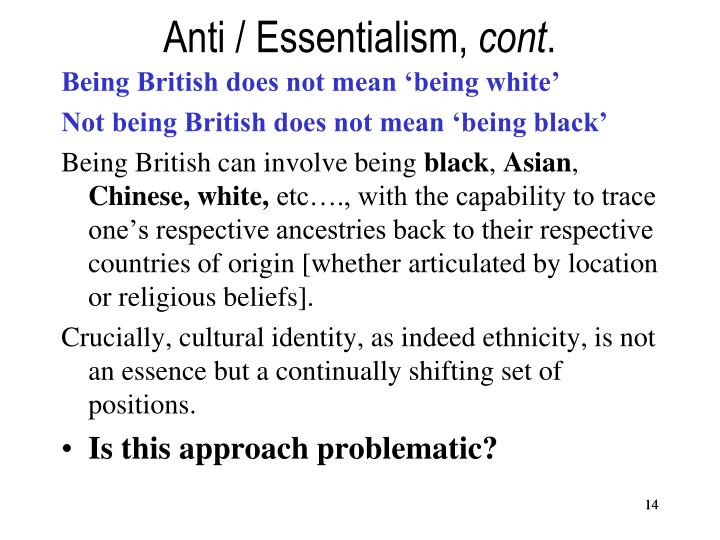 Anti / Essentialism,
