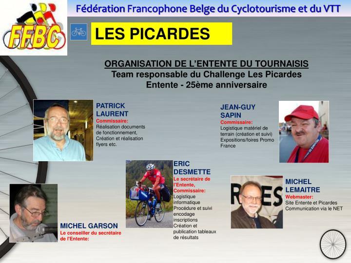 ORGANISATION DE L'ENTENTE DU TOURNAISIS