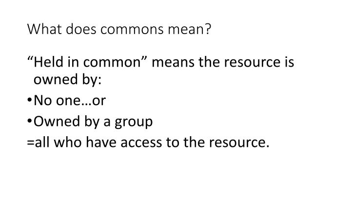 What does commons mean?