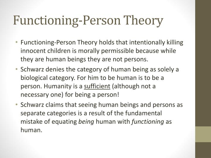 Functioning-Person Theory