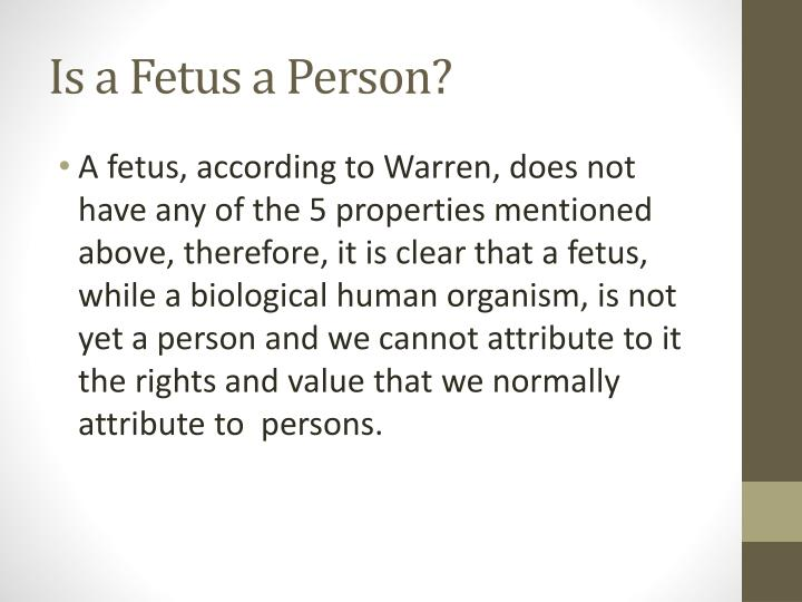 Is a Fetus a Person?