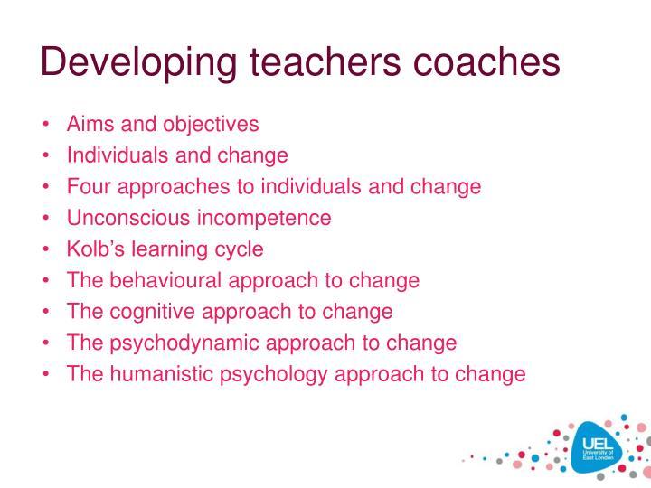 Developing teachers coaches