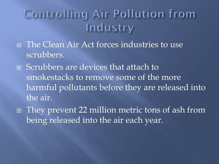 Controlling Air Pollution from Industry