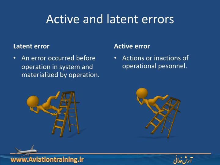 Active and latent errors