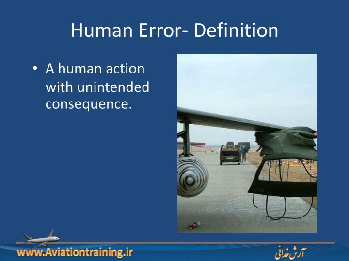 Human Error- Definition