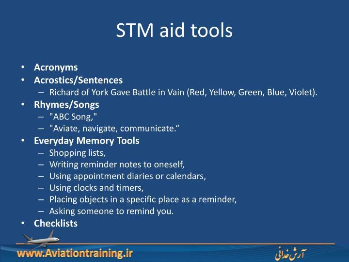 STM aid tools