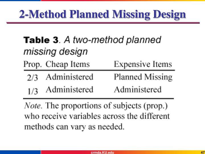 2-Method Planned Missing