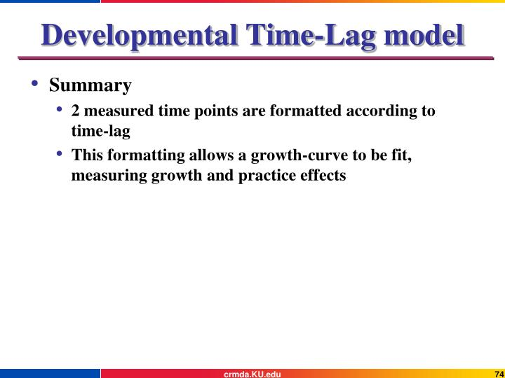 Developmental Time-Lag model