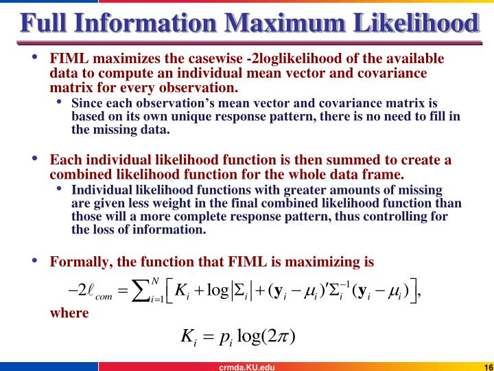 Full Information Maximum Likelihood