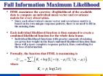 full information maximum likelihood