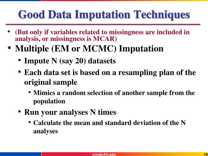 Good Data Imputation Techniques