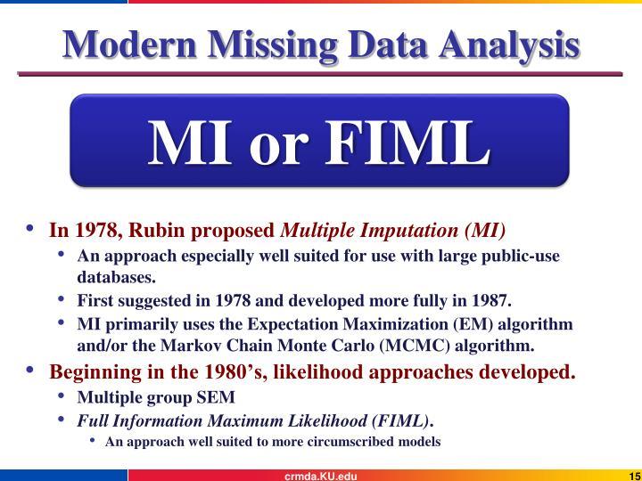 Modern Missing Data Analysis