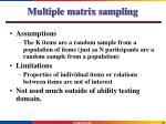multiple matrix sampling3