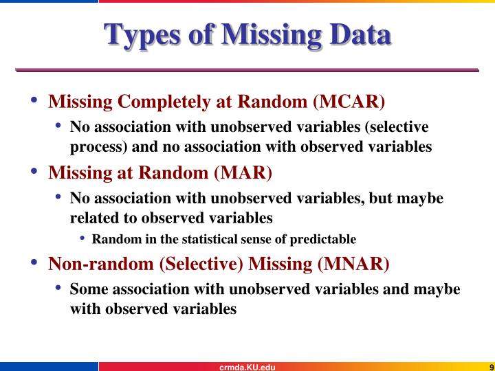 Types of Missing Data