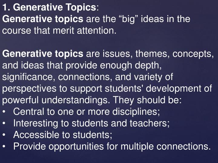 1. Generative