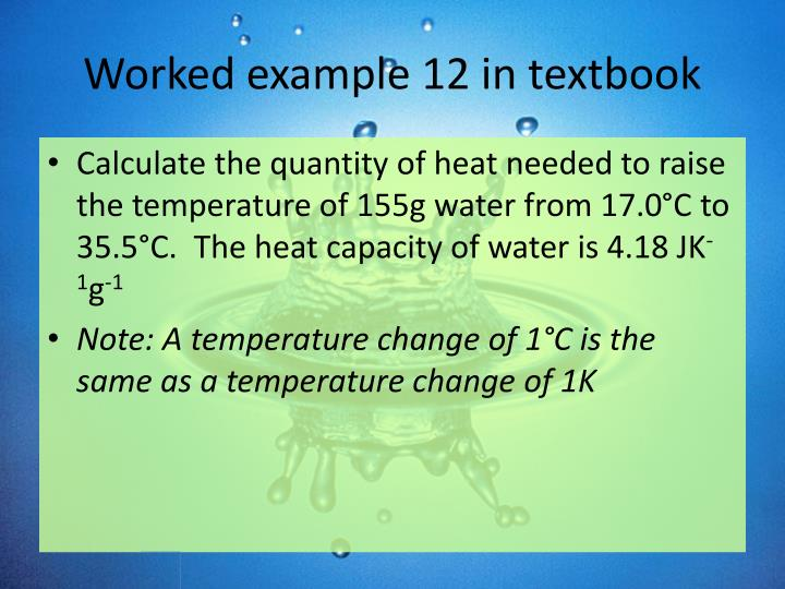 Worked example 12 in textbook