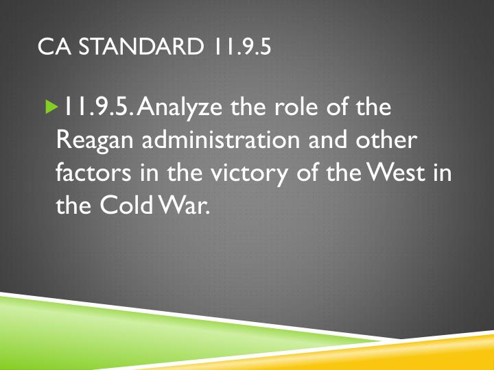 CA Standard 11.9.5