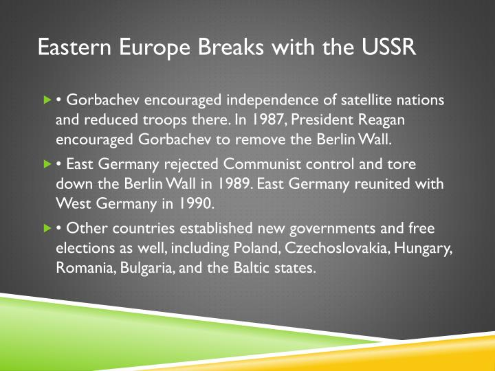 Eastern Europe Breaks with the USSR