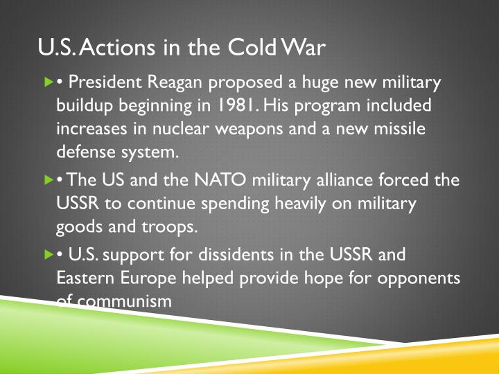 U.S. Actions in the Cold War