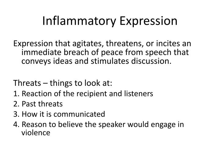 Inflammatory Expression
