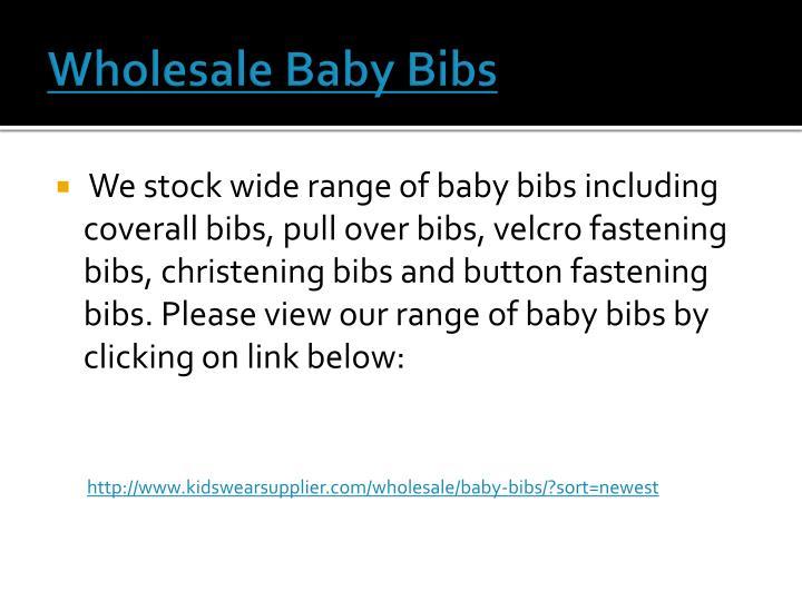 Wholesale Baby Bibs