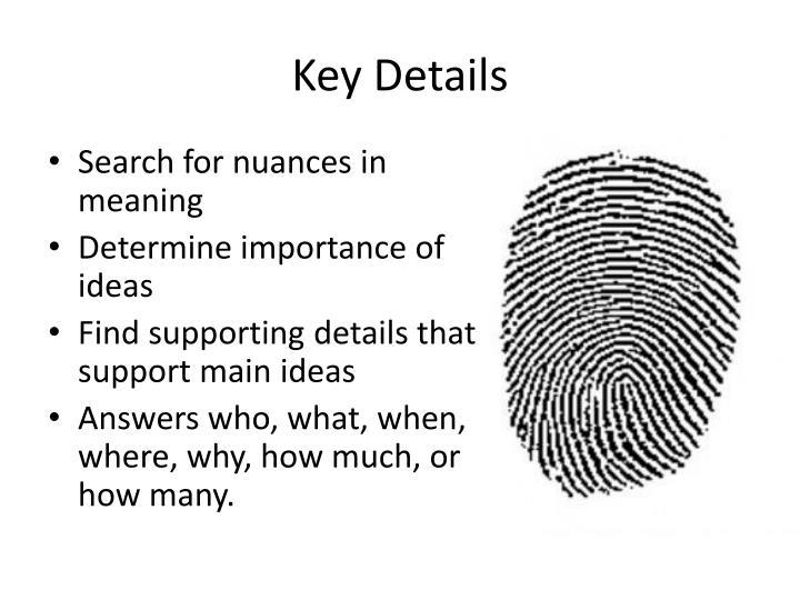Key Details