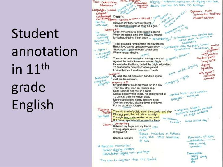 Student annotation in 11