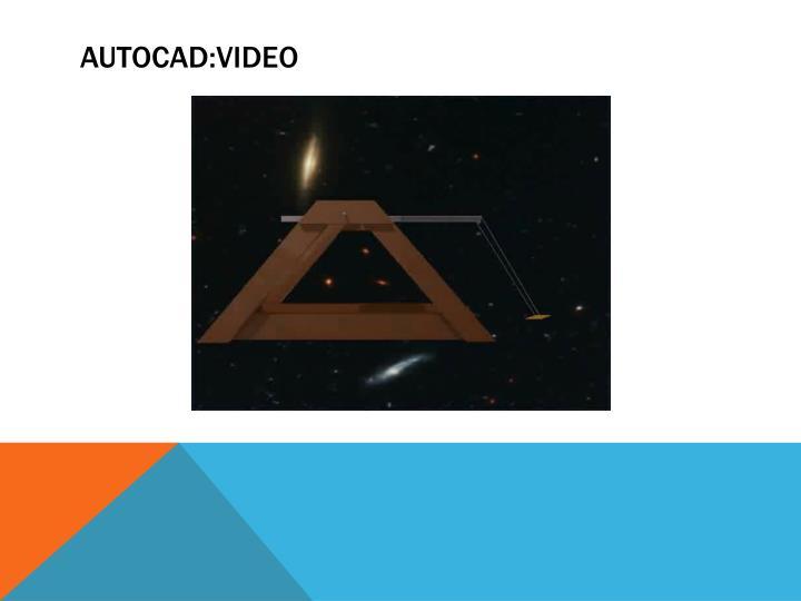 AUTOcad:video