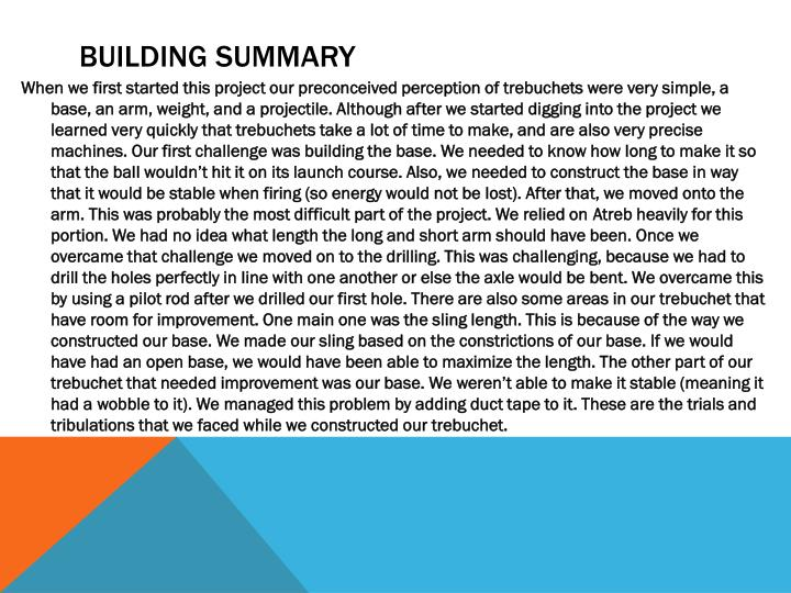 Building summary