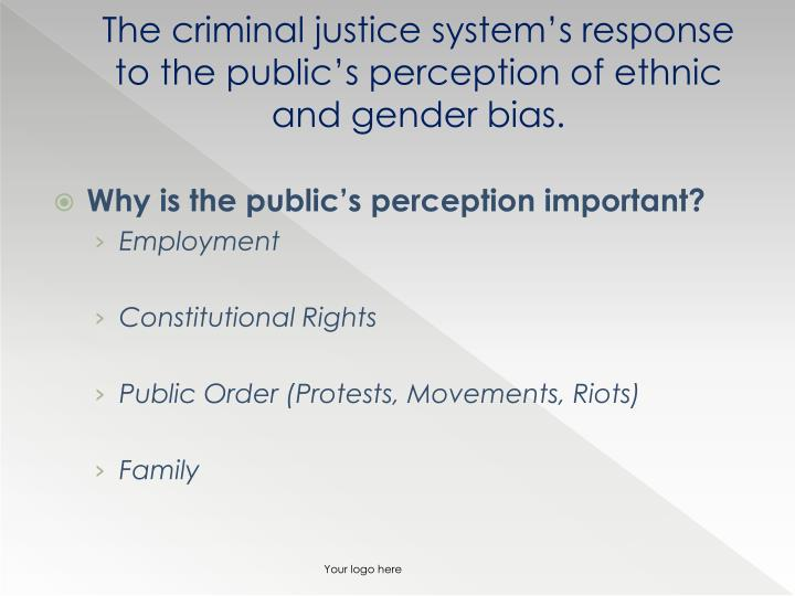 gender in criminal justice Minor programs are available in sociology, anthropology and criminal justice the criminal justice  race, class, and gender and the criminal justice system (3.