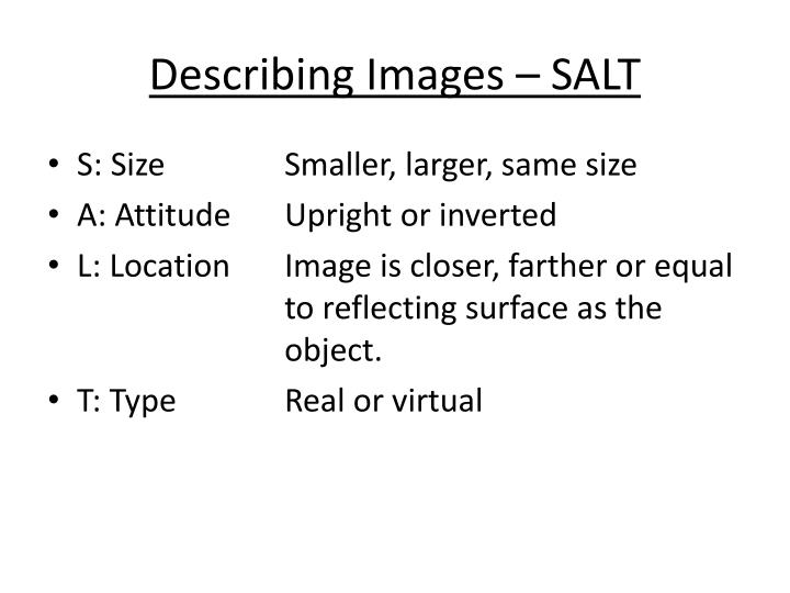 Describing Images – SALT