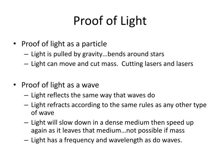 Proof of Light