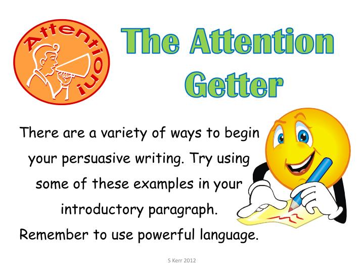 attention getters essays