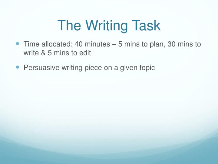 The Writing Task
