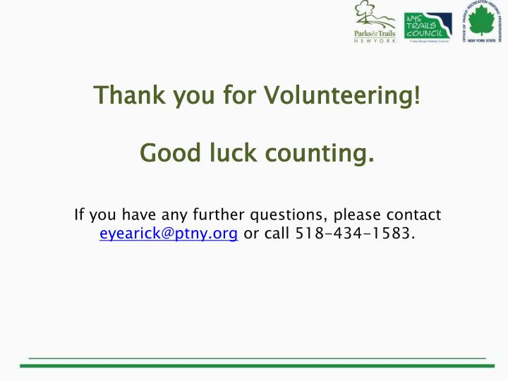 Thank you for Volunteering!