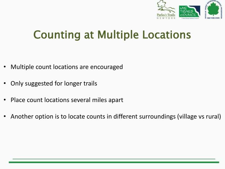 Counting at Multiple Locations