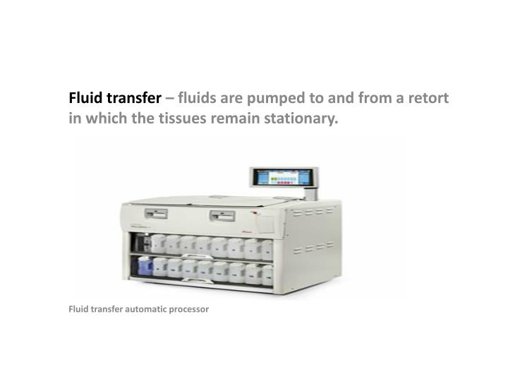 Fluid transfer