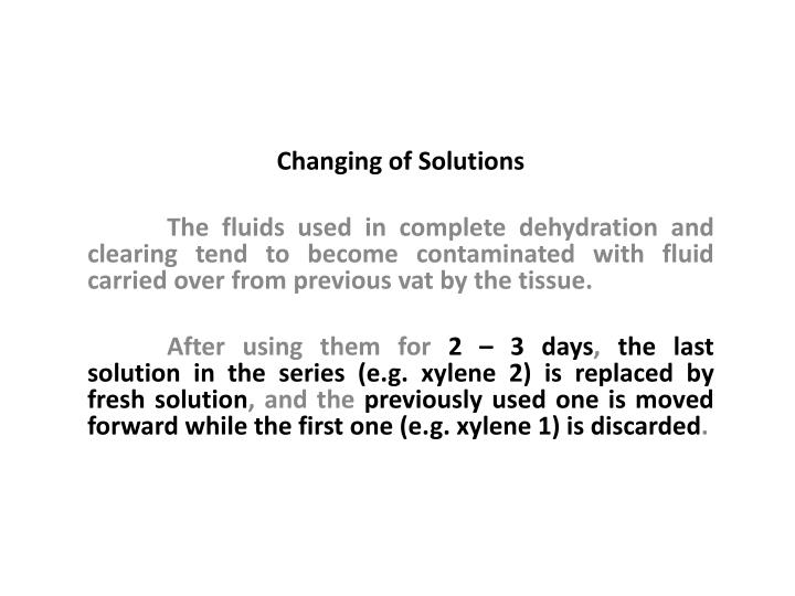 Changing of Solutions