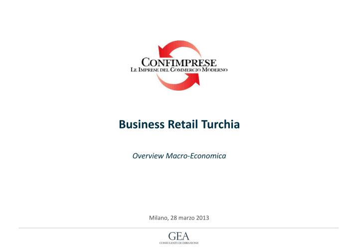 Business Retail Turchia