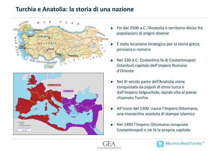 Turchia e Anatolia: la storia di una nazione