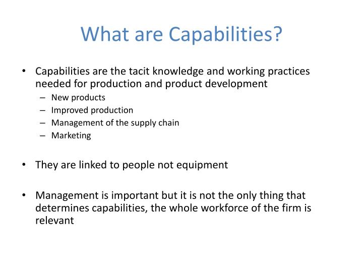 What are Capabilities?