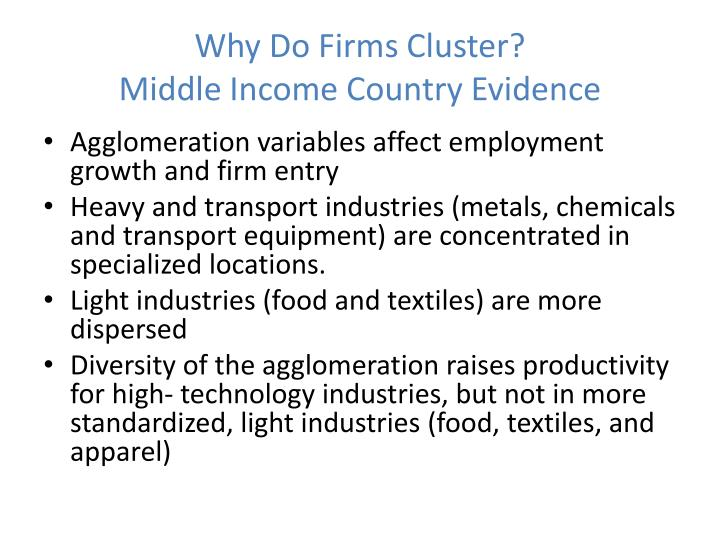 Why Do Firms Cluster?