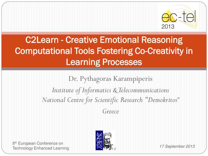C2Learn - Creative Emotional Reasoning Computational Tools Fostering Co-Creativity in Learning